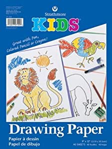 Strathmore Kids Drawing Tape Bound Paper Pad 9 X 12 Inches (ST27-109-1)