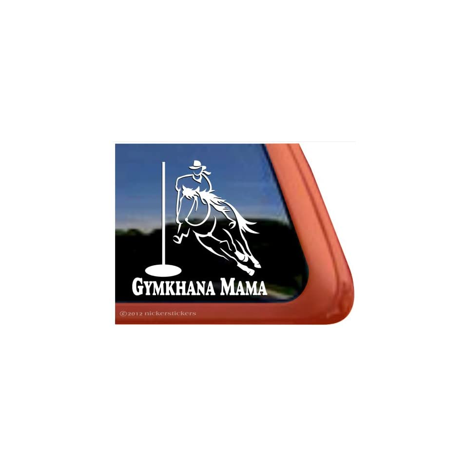 Gymkhana Mama ~ Pole Bending Horse Trailer Vinyl Window Decal Sticker