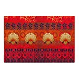 India Circus Lotus Bloom 6 Table Mat and 6 Napkin Set - Multicolour