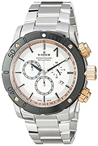 Edox Men's 'Chronoffshore-1' Swiss Quartz Stainless Steel Diving Watch, Color:Silver-Toned (Model: 10221 357RM BINR)