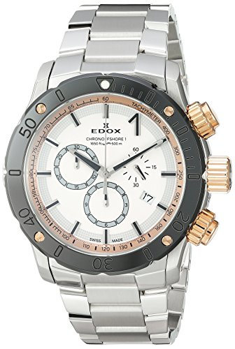 Edox-Mens-Chronoffshore-1-Swiss-Quartz-Stainless-Steel-Diving-Watch-ColorSilver-Toned-Model-10221-357RM-BINR
