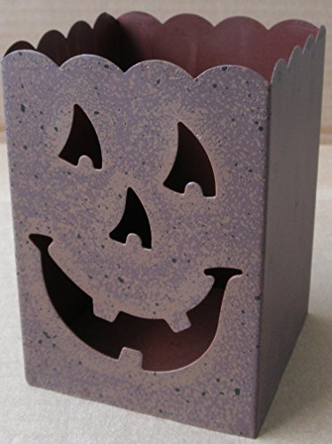 Clearance Decorative Metal Halloween Jack-O-Lantern Candle Holder for Halloween use. Jackolantern , jack o lantern pumkin. . It is made for volitive / votive candles., but may take thicker (Scary Halloween Pumkins)