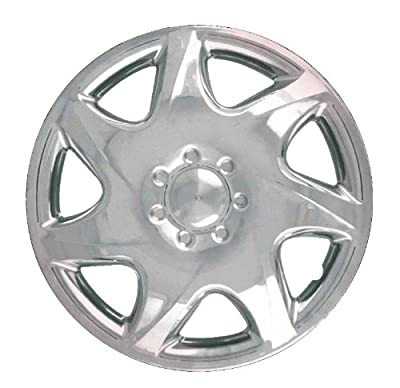 CCI IWC191-14S 14 Inch Clip On Silver Finish Hubcaps - Pack of 4