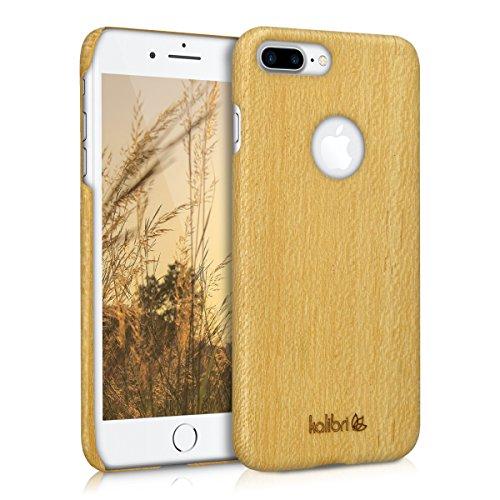 kalibri-Holz-Case-Hlle-fr-Apple-iPhone-7-Plus-Handy-Cover-Schutzhlle-aus-Echt-Holz-und-Kunststoff-aus-Seideneichenholz-in-Beige