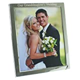 "Silver Plated Our Granddaughter's Wedding Photo Frame, 8"" x 10"" Portrait"