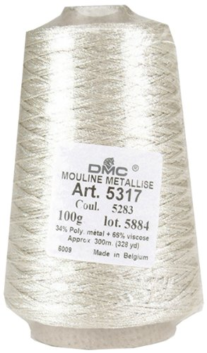 DMC Metallic Embroidery Floss 100 Gram Cone: Silver