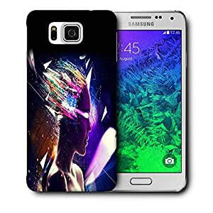 Snoogg Girl Eyes Printed Protective Phone Back Case Cover For Samsung Galaxy SAMSUNG GALAXY ALPHA
