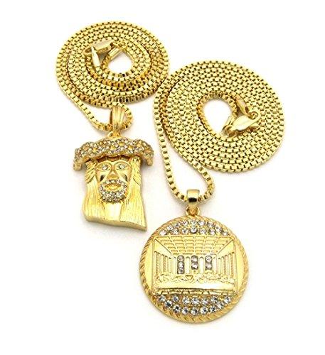 "Letter Love Fashion Hip Hop Micro Freemason Masonic Compass Pendant 3Mm 30"" Box Chain Necklace"