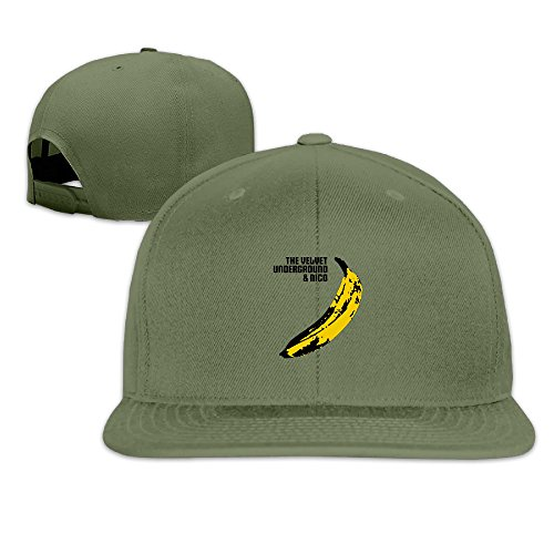 Custom Unisex ForestGreen Adjustable Fashion The Velvet Underground Snapback Flat Ove Hat One Size (Kansas State Chef Hat compare prices)