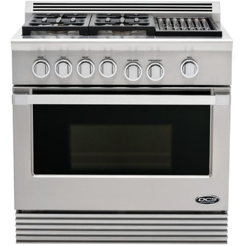 Dcs Rgu-364Gl-N Range 36, 4 Burner, Grill, Natural Gas