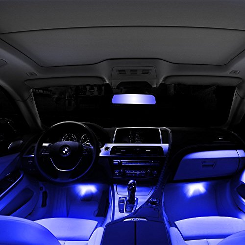 Thunder 12v 4 3 led car interior decorative atmosphere - Blue light bulbs for car interior ...