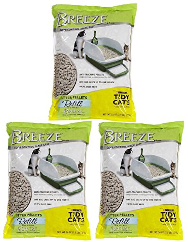 Pack of 3 - Tidy Cats Breeze Cat Litter Pellets - 3.5 lb (Tidy Breeze Pellets compare prices)
