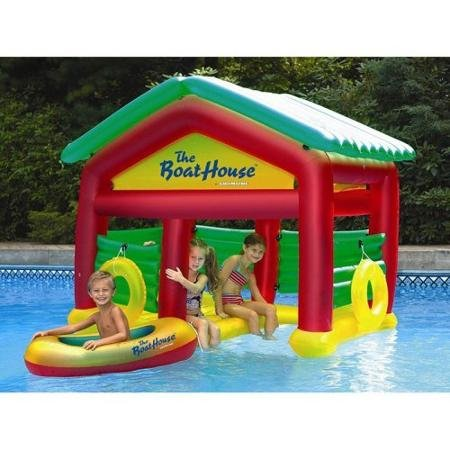 Swimline Designs Boathouse Floating Habitat Inflatable for Swimming Pools