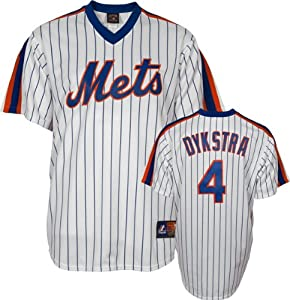 Lenny Dykstra New York Mets Majestic Pinstripe Cooperstown Replica Jersey by Majestic