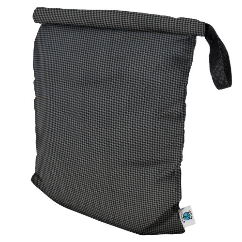 planet-wise-roll-down-wet-diaper-bag-gray-houndstooth-large