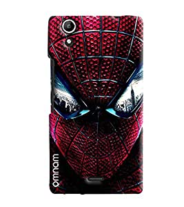 Omnam Spider Man Closeup Face Printed Designer Back Cover Case For Micromax Selfie 2 Q340