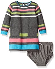 Hartstrings Baby-Girls Knit Stripe Pa…