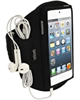 igadgitz Noir Armband Brassard Sport pour Apple iPod Touch 6�me G�n�ration (Juillet 2015) & 5�me G�n�ration (2012-2015) Sport Gym Jogging