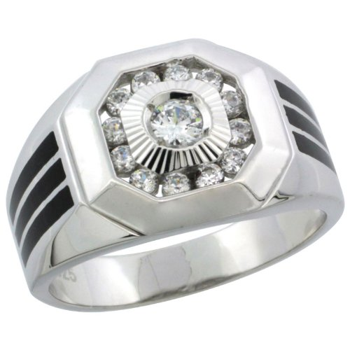 Men's Octagon Ring in Black