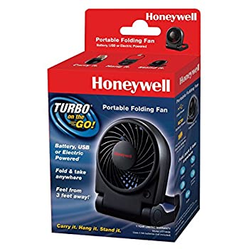 Honeywell HTF090B Turbo on the Go Personal Fan, Black