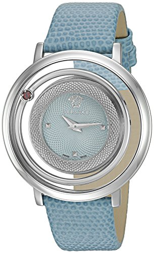 Versace-Womens-Venus-Quartz-Stainless-Steel-and-Leather-Casual-Watch-ColorBlue-Model-VQV020015