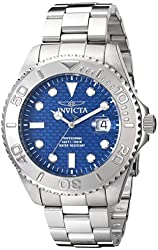 """Invicta Men's 15176SYB """"Pro Diver"""" Stainless Steel Watch"""