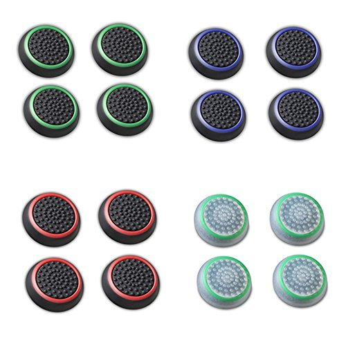 Fosmon [Set of 16] Analog Stick Joystick Controller Performance Thumb Grips for PS4 | PS3 | Xbox ONE | Xbox 360 | Wii U - Assorted (Set of 16)