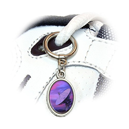 Very Large Array Vla Radar Telescope Dishessunset Shoe Sneaker Shoelace Oval Charm Decoration