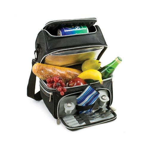 Sale!! Picnic Time Pranzo Insulated Lunch Tote, Black