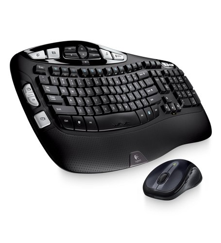 Logitech Wireless Wave Combo Mk550 With Keyboard and Laser Mouse (920-002555)