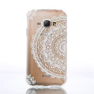 ANGELLA-M Galaxy J1 Ace 2015 case, Flexible Silicone Soft Clear Ultra-thin TPU Transparent Protective Back Cover Case for Samsung Galaxy J1 Ace 2015 SM-J110F Retro Flower