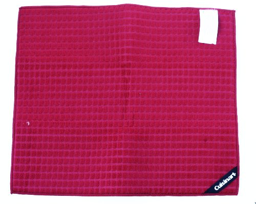 Cusinart Microfiber Dish Drying Mat, 16 Inches X 18 Inches,, Red
