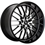 """Konig Lace Black Wheel with Machined Face (17x7""""/5x110mm)"""