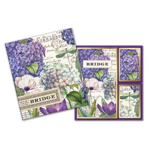 Michel Design Works Hydrangea Bridge Card Set