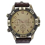 COSMIC ANALOG MEN WATCH- BROWN LEATHER STRAP