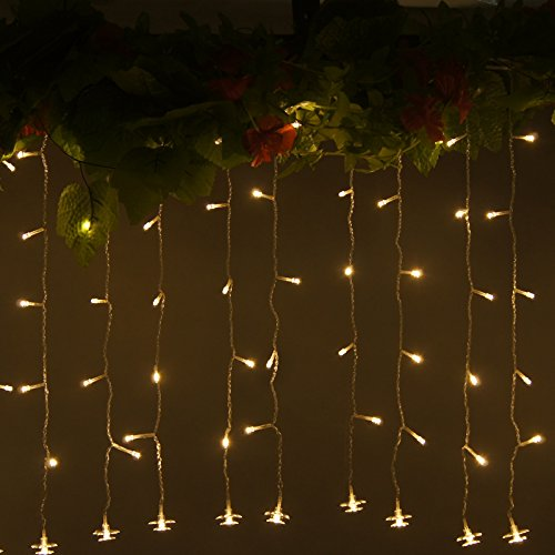 Gbb Icicle Light - 3.5M/12Ft 96 Led 110V Waterproof, Shimmering Fairy Lights To Bring Magic And Wonder To Any Wedding, Christmas Party, Holiday Or Home Decoration. (Warm White)Early Xmas Sale, Lowest Price Of Season Get Them Now!