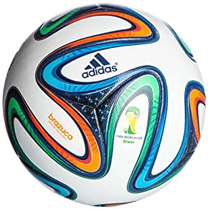 adidas Fußball Brazuca Official Match Ball, White/Night Blue/Multicolor, 5, G73617