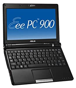 ASUS Eee PC 900 8.9-Inch Netbook (Intel Mobile Processor, 1 GB RAM, 12 GB Solid State Drive, XP Home, 4 Cell Battery) Galaxy Black