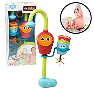 Baby Bath Toy - Flow N' Fill Spout - Three Stackable Cups And Automated Spout