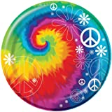 """Creative Converting-Tie Dye Fun 8 3/4"""" Plates (Lunch) 8 count"""