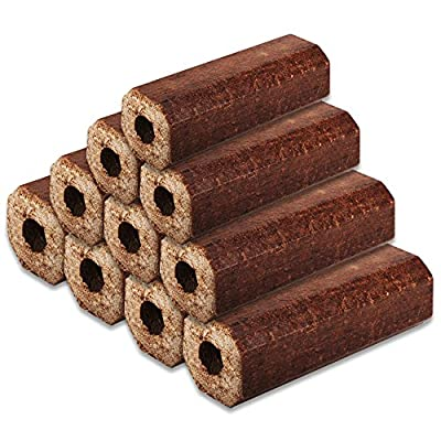 10 Pack Tigerbox Premium Eco Wooden Heat Logs Fuel For Firewood Open Fires Stoves And Log Burners from Shop4accessories
