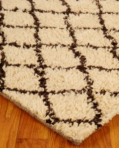 NaturalAreaRugs Cloud Morrocan Wool Rug, 100% Natural Fiber, Hand Woven, Eco Friendly, 4' x 6'