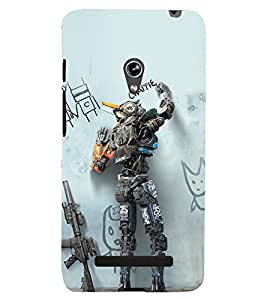 printtech Swag Movie Robot Back Case Cover for Asus Zenfone 5 / Asus Zenfone 5 A500CG