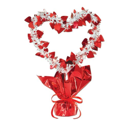 Heart Gleam 'N Shape Centerpiece (red & white) Party Accessory  (1 count) (1/Pkg)