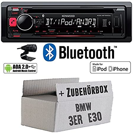 BMW 3er E30 - Kenwood KDC-BT500U - Bluetooth CD/MP3/USB Autoradio - Einbauset