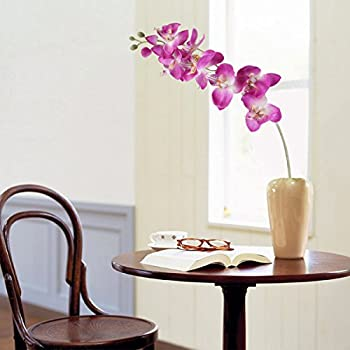 UEETEK Simulation Butterfly Orchid Artificial Flower Plant Home Decoration (Purple)