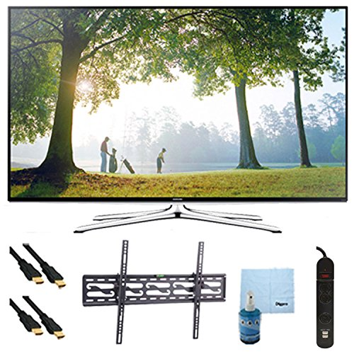 """32"""" Full Hd 1080P Smart Led Hdtv 120Hz Plus Tilt Mount And Hookup Kit Un32H6350. Bundle Includes Tv, Tilting Tv Mount, 3 Outlet Surge Protector W/ 2 Usb Ports, 2 -6 Ft High Speed Hdmi Cables, Performance Tv/Lcd Screen Cleaning Kit, And Cleaning Cloth."""