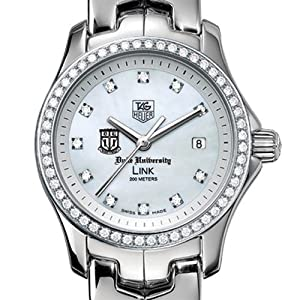 Duke University TAG Heuer Watch - Ladies Link Watch with Diamond Bezel by TAG Heuer