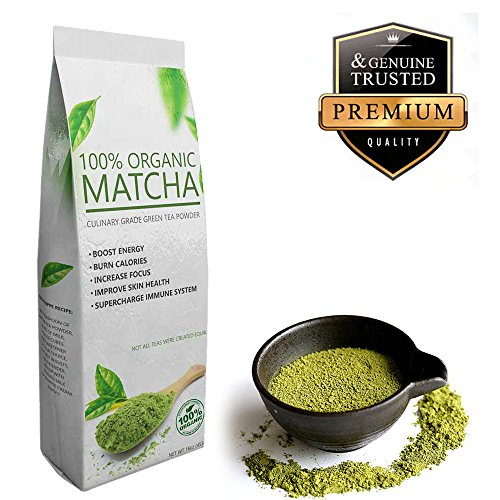 Select Matcha (16oz) Premium Certified Organic, Pure Matcha Green Tea Powder, Improves Mental Focus, Natural Weight Loss Helper, Great Tasting (How To Bake Po compare prices)