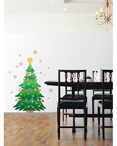 Ambience Live Vinile Decorativo Christmas tree and stars Multicolore